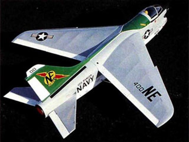 A-7 Corsair II (oz3433) by Rich Uravitch from Model Airplane News 1995