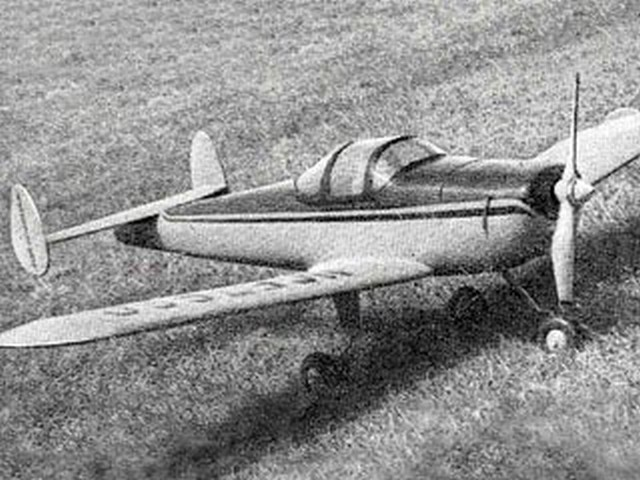 Ercoupe (oz3490) by Don Deeley from Aeromodeller 1950