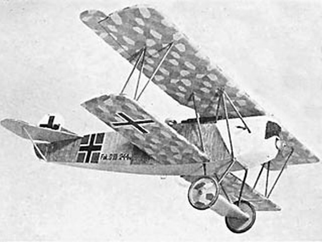 Fokker D7 (oz3504) by Doug McHard from Model Aircraft 1962