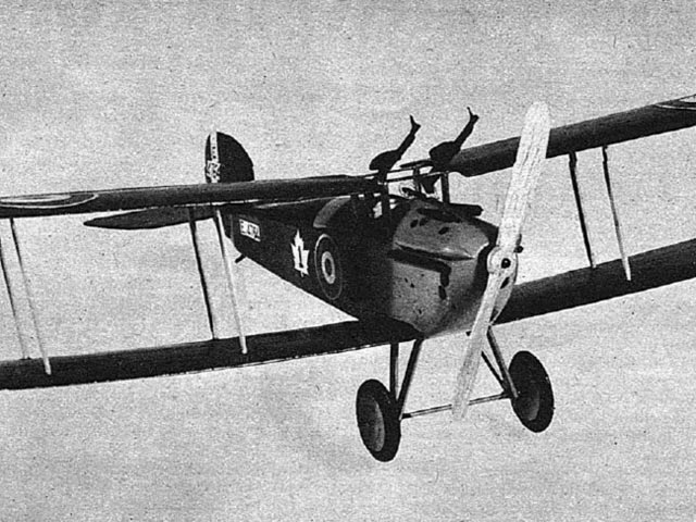 Sopwith Dolphin (oz3537) by Joseph Wherry from Air Trails 1947