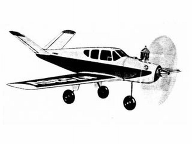 Beech Bonanza (oz3555) by Walt Musciano from Scientific 1960
