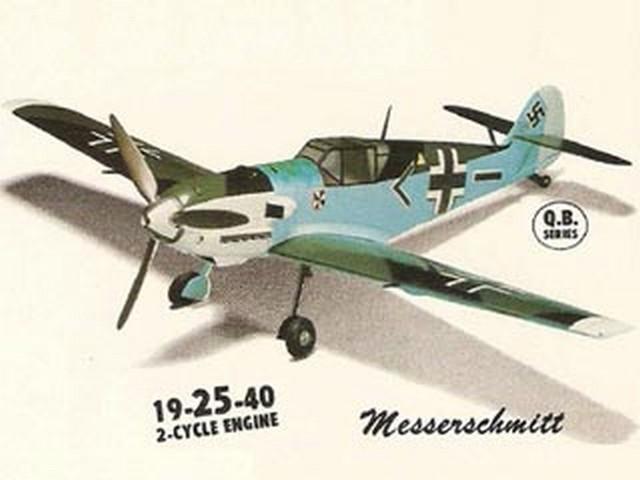 Me 109 - completed model photo