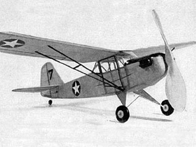 Taylorcraft Liason L-2B (oz3626) by Sydney Struhl from Model Airplane News 1943
