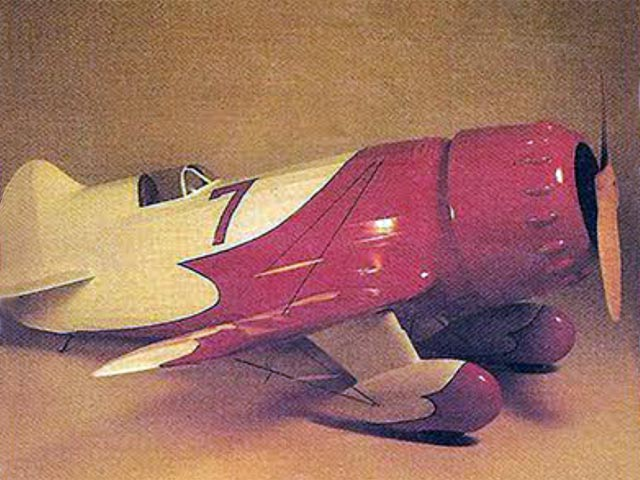 Gee Bee R1/R2 - completed model photo