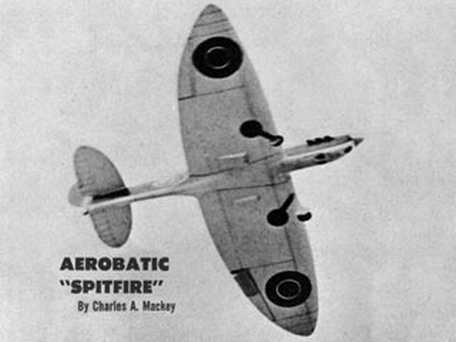Spitfire (oz3678) by Charles Mackey from American Modeler 1960