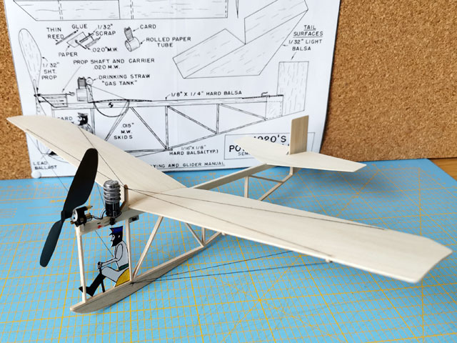 1920s Powered Glider (oz3691) by Bill Warner from Model Builder 1974