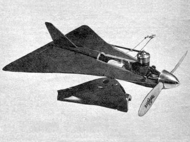 All Wing Wonder (oz3718) by Paul Del Gatto from Air Trails 1953