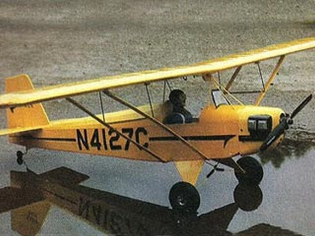 Baby Ace D (oz3728) by Doc Mathews from Model Airplane News 1984