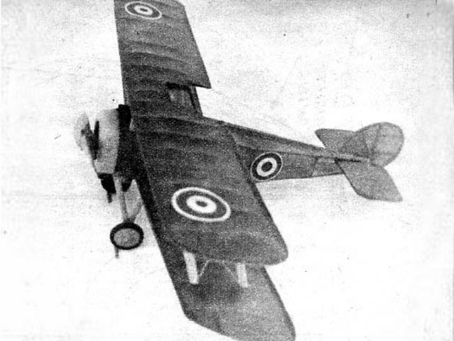 Sopwith Snipe (oz3730) by Joseph Wherry from Model Airplane News 1945