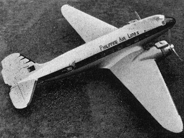 Douglas Dakota (oz3744) by L Last, JM Bodey from Aeromodeller 1960