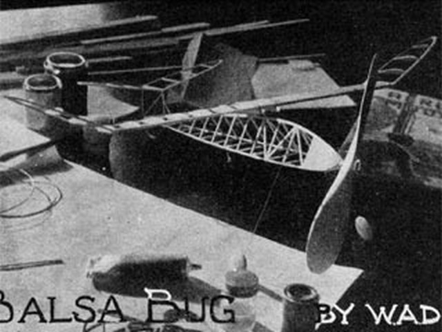 Balsa Bug (oz3778) by Bill Dean from Aeromodeller 1942
