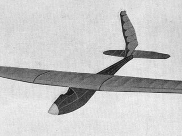 Bowlus Sailplane (oz3817) from Complete Model Aircraft Manual 1938