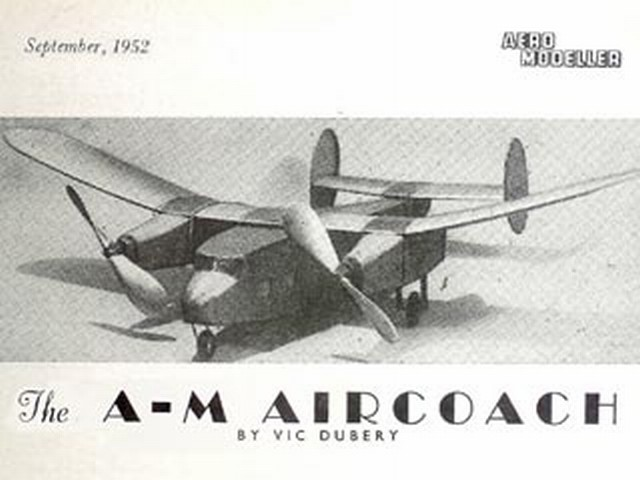 A-M Aircoach (oz3897) by Vic Dubery from Aeromodeller 1952