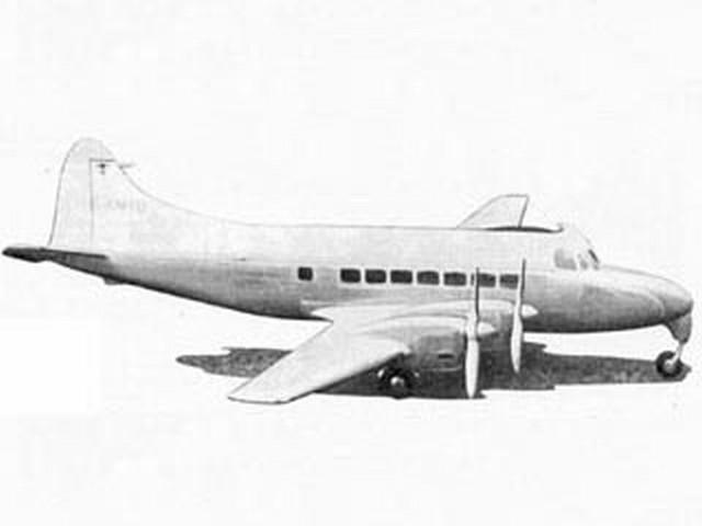 De Havilland Heron (oz391) by F Buckland from Model Aircraft 1956
