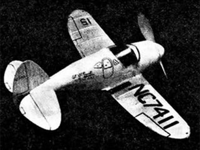 Seversky Executive (oz3955) by Herbert K Weiss from Model Airplane News 1939