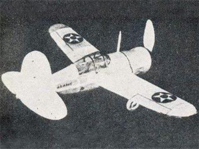 Brewster XF2A-1 (oz3972) by Herbert K Weiss from Model Airplane News 1938
