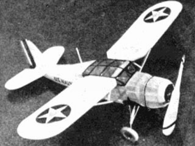 Curtiss XF13C-1 (oz3973) by Bill Winter, Walter McBride from Model Airplane News 1935