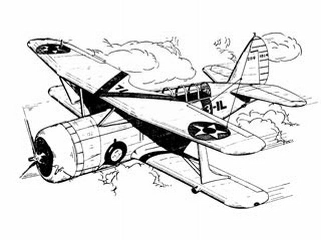 Curtiss Scout Bomber SBC-4 (oz3988) from Ace Whitman 1940