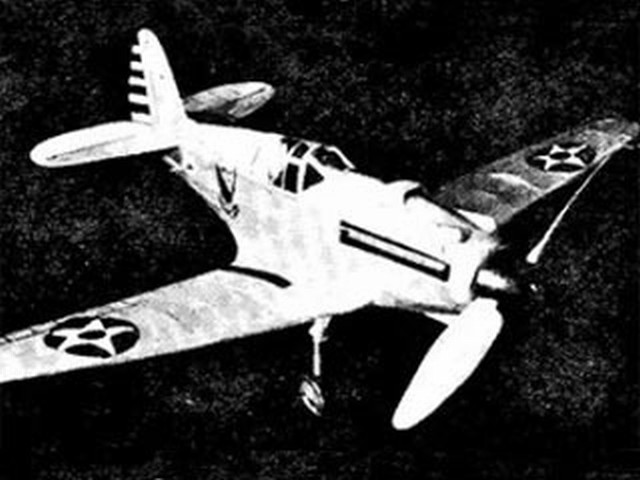 Curtiss XP-40 (oz4008) by Herbert K Weiss from Model Airplane News 1939