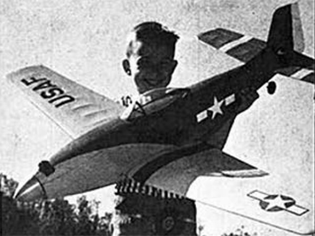 North American P-51 Mustang (oz4027) by Bob Buragas from Flying Models 1965