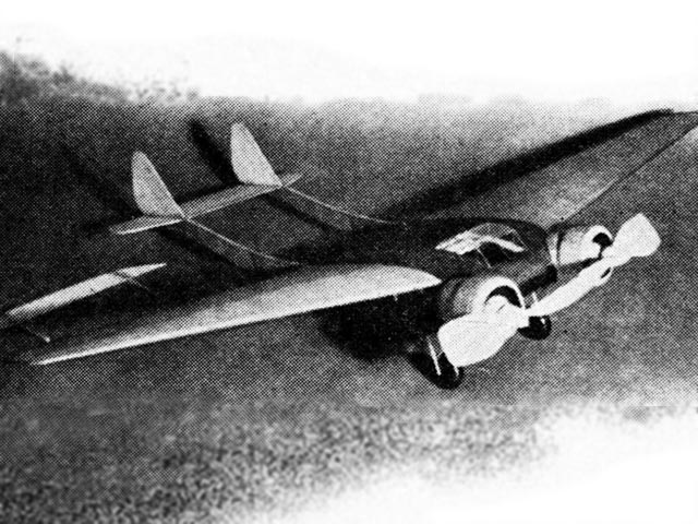 Burnelli Twin (oz4048) by Alan Booton, Ralph Pickard from Model Airplane News 1937