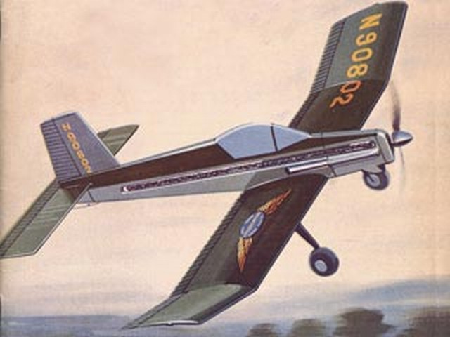 Fletcher Defender (oz4057) by Bill Hannan from Aeromodeller 1966