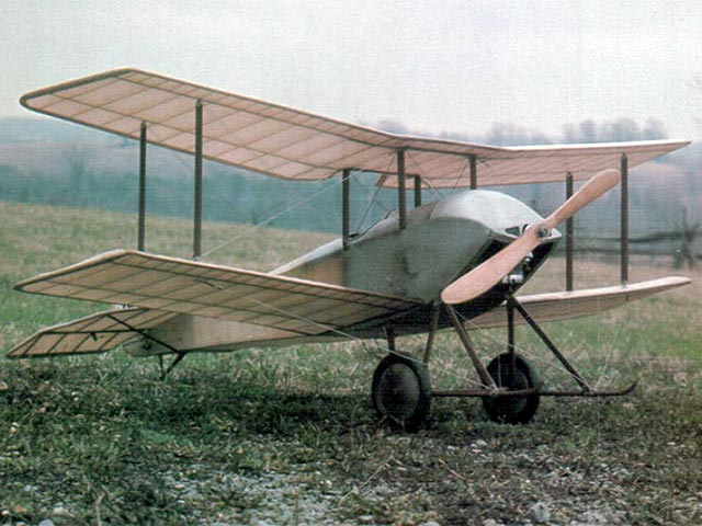 Sopwith Tabloid (oz4066) by Chris Moes from Model Builder 1975