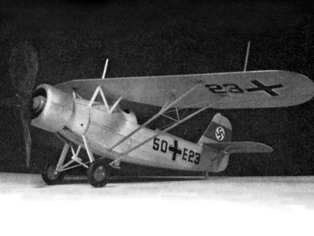 Heinkel He 46 (oz4072) by Doug McHard from Aeromodeller 1970