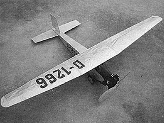 Messerschmitt M.18 (oz4153) by Dave Linstrum from Model Builder 1993