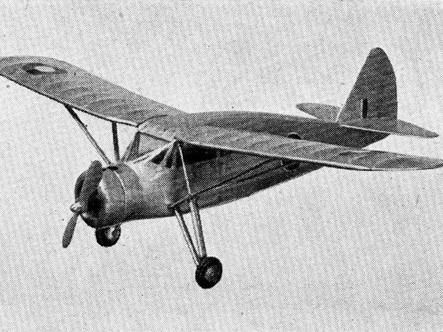 Fairchild Argus (oz4165) by EJ Riding from Aeromodeller 1947