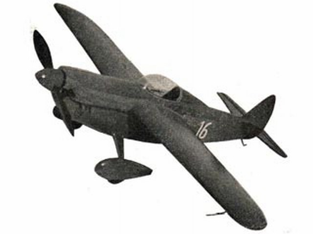 Shoestring (oz4256) by PMH Lewis from Model Aircraft 1958