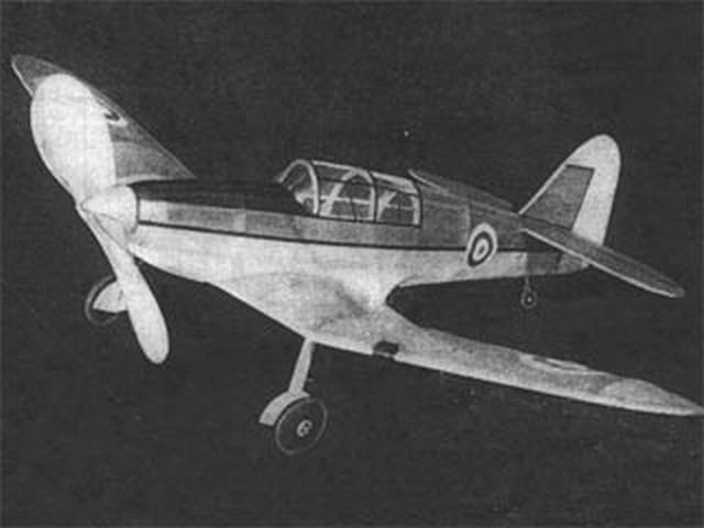 Miles Master (oz4267) by Sydney Struhl from Model Airplane News 1942