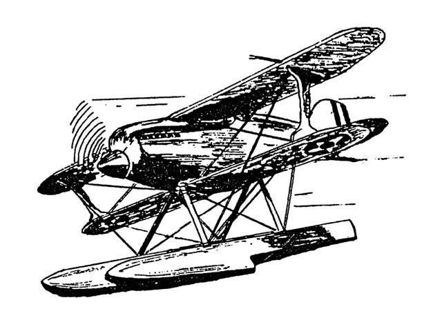 Curtiss Racer - completed model photo