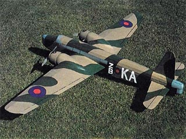 Vickers Wellington MkI - completed model photo