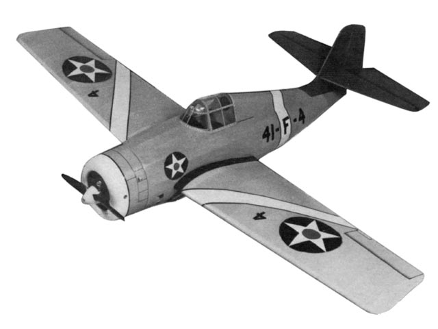 Grumman F4F-3 Wildcat  (oz4550) by Hurst Bowers, Don Srull from Model Aviation 1978