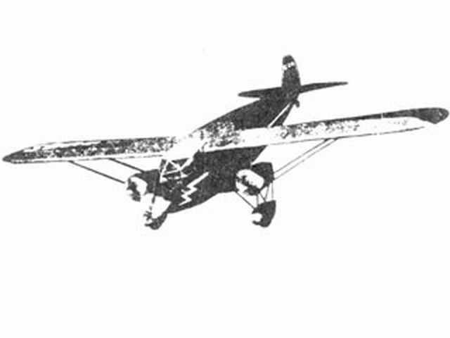 Stinson Trimotor Model C (oz4579) from Scientific 1932