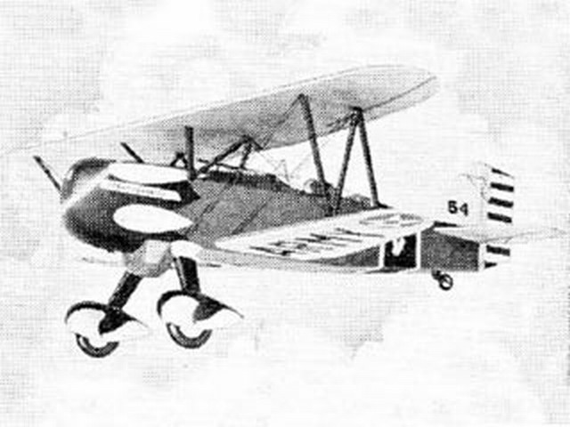 Curtiss P-6E Army Hawk (oz4594) from Scientific 1935