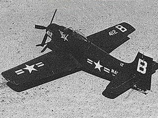 Skyraider (oz4681) by J Kelly Abbott from Model Airplane News 1956
