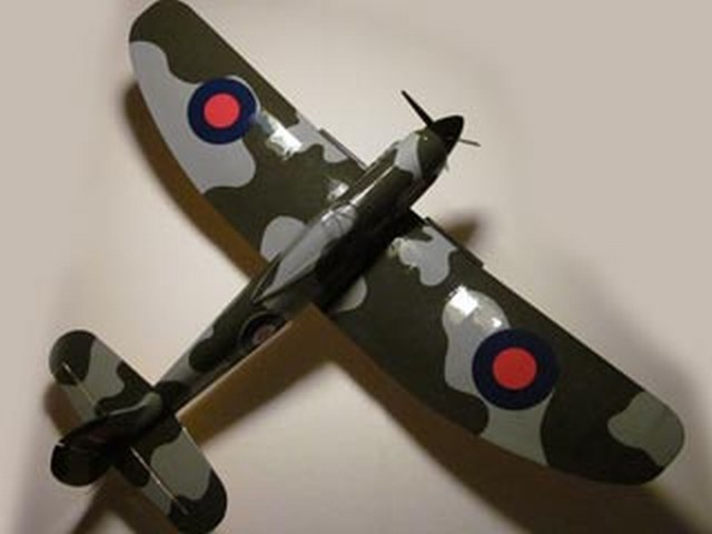 Hawker Tempest MkI - completed model photo