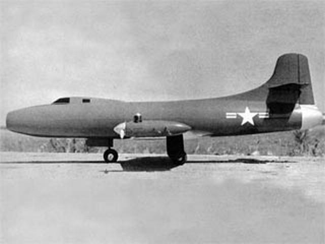 Douglas D-558 Skystreak (oz4849) by Frank Beatty from American Modeler 1967