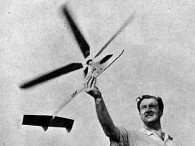 Gyro Glider (oz4856) by Paul Del Gatto from Model Airplane News 1957
