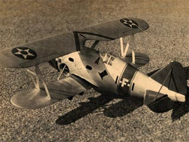 Grumman F3F-1 - completed model photo