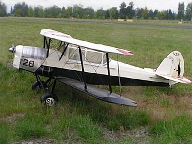 Stampe SV.4B - completed model photo