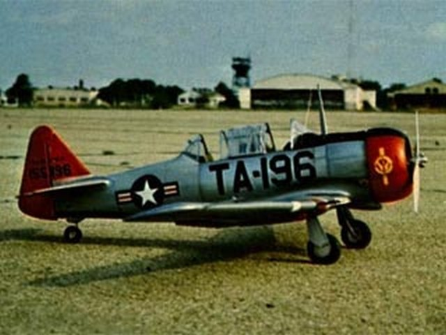 T-6F Texan - completed model photo