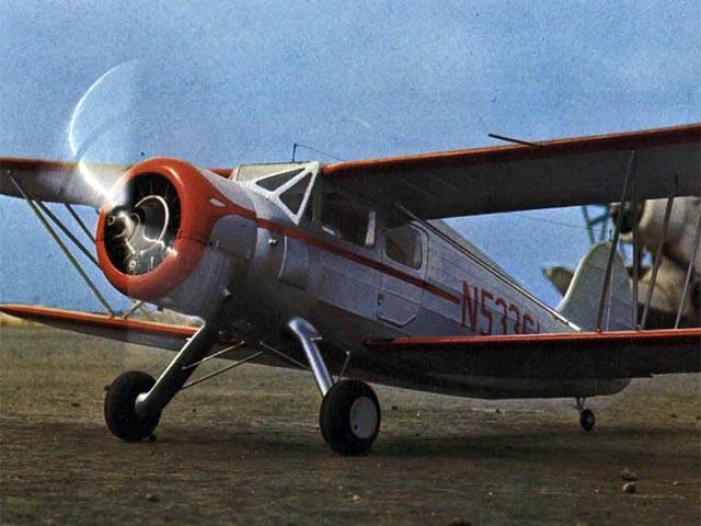 Waco YKS-6 (oz4998) by Bill Warner from Model Builder 1973