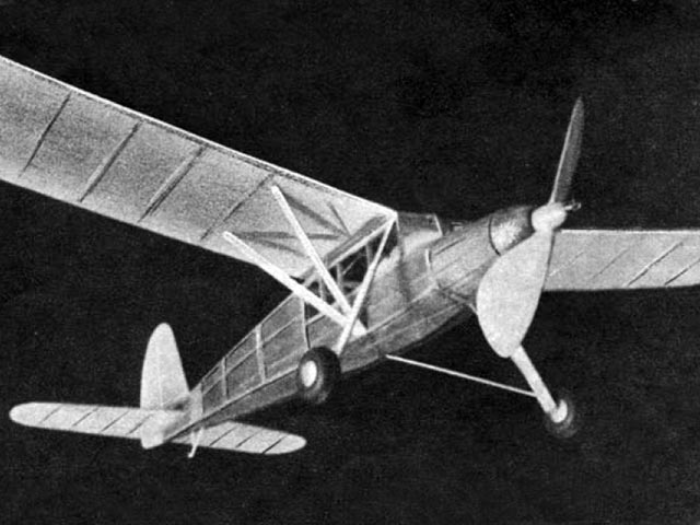 Fieseler Storch (oz5007) by Len Marlow from Model Airplane News 1948