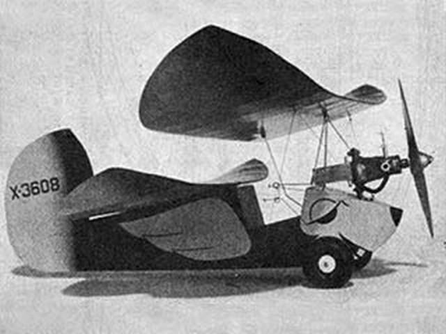Flying Flea (oz5025) by Chuck Hollinger from Model Airplane News 1949