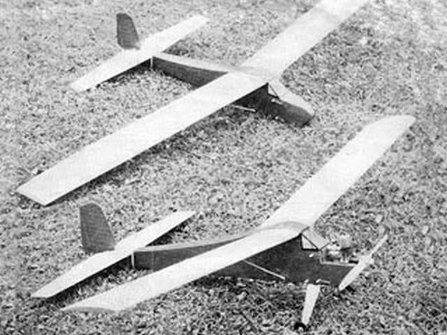 Upbury Convertible (oz5027) by G Elsegood from Model Aircraft 1965