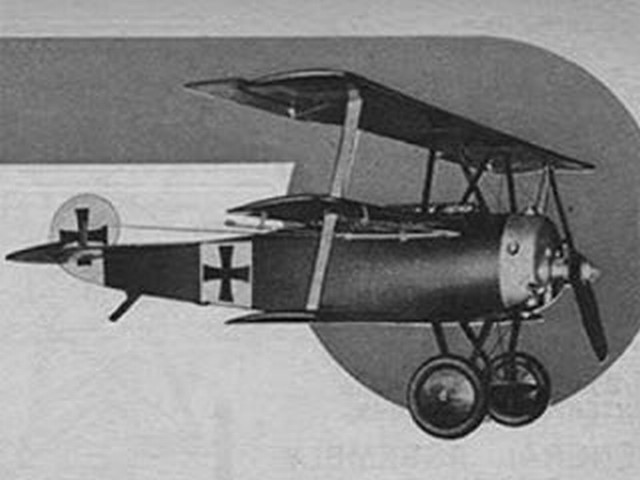 Fokker Triplane (oz5041) by Paul Plecan from Air Trails 1948
