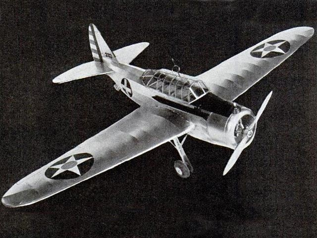 North American O-47 - completed model photo
